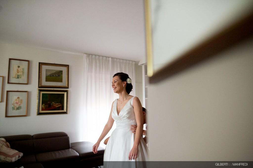 Matrimonio abito bianco sposa