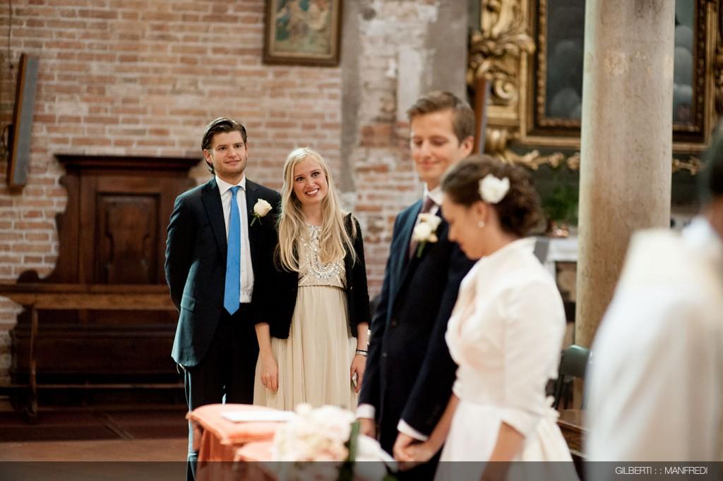 Testimoni sposo matrimonio