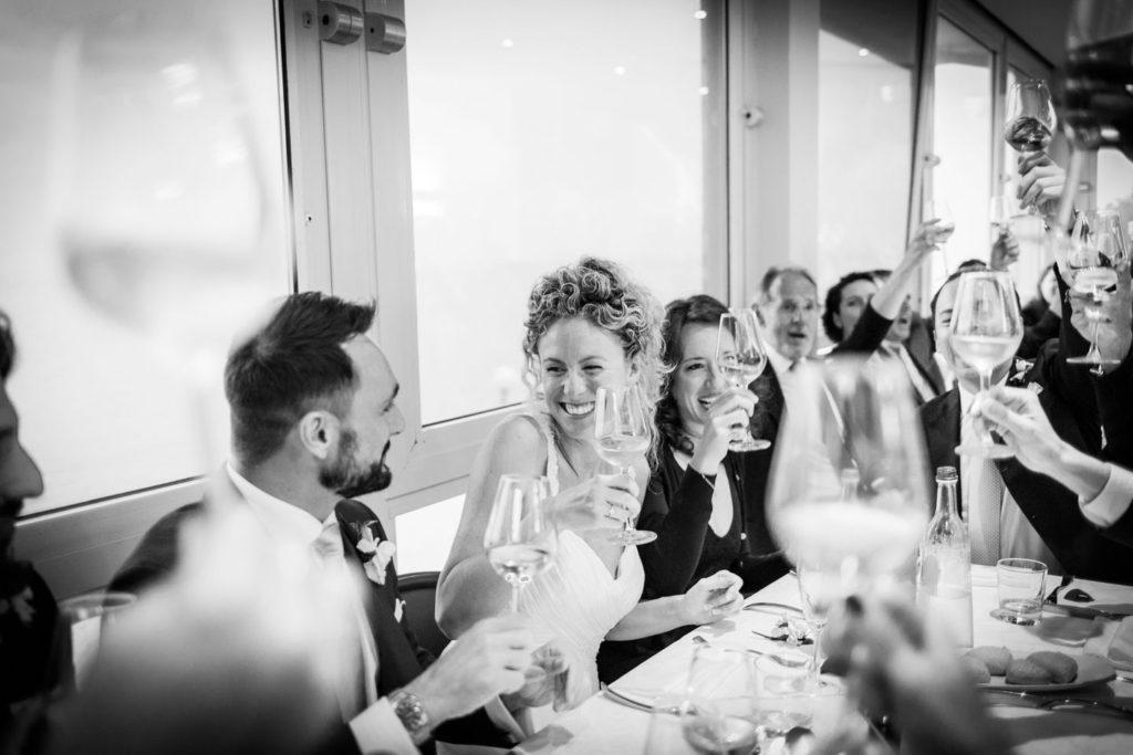 brindisi di nozze al Just Peruzzi con vista sul mare