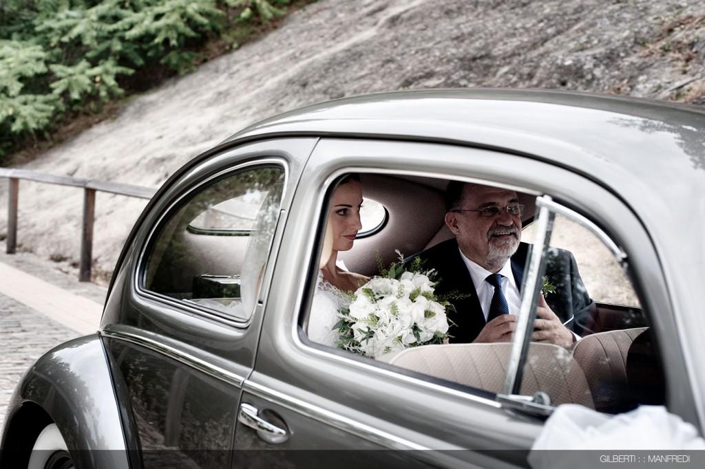 arrivo auto sposa