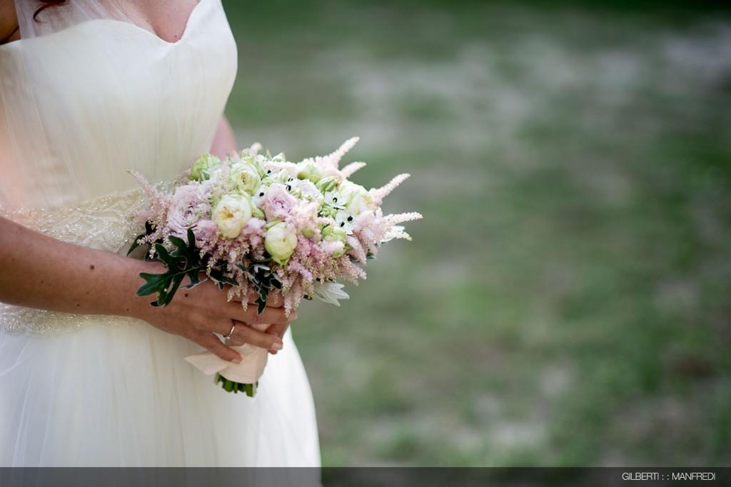 Bouquet rosa e giallo sposa
