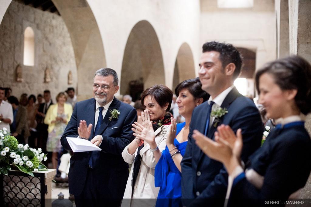 applausi famiglia sposa