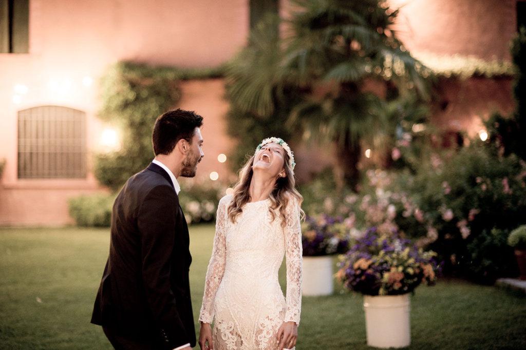 la sposa sorride