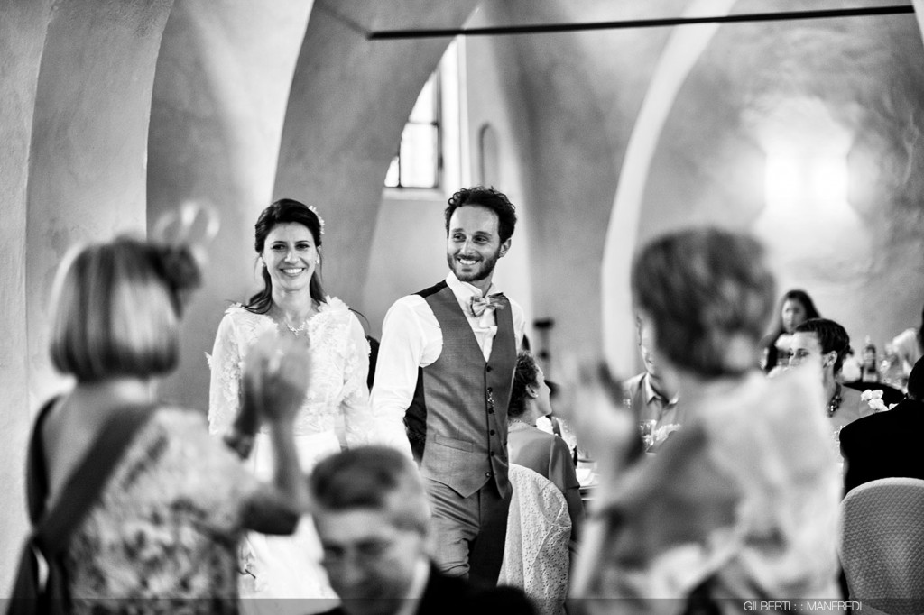 Ingresso sposi sala da pranzo matrimonio