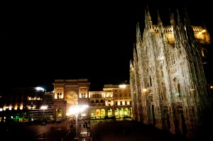 16 reportage matrimonio milano vista notturna piazza duomo milano